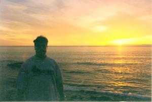 One of the last photos of Brad, watching a California sunset (2000).
